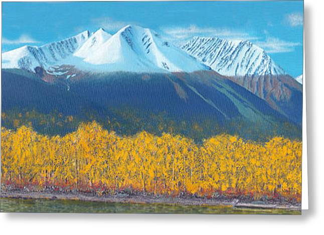 Snow Tree Prints Greeting Cards - Hudson Bay Mountain Greeting Card by Stanza Widen