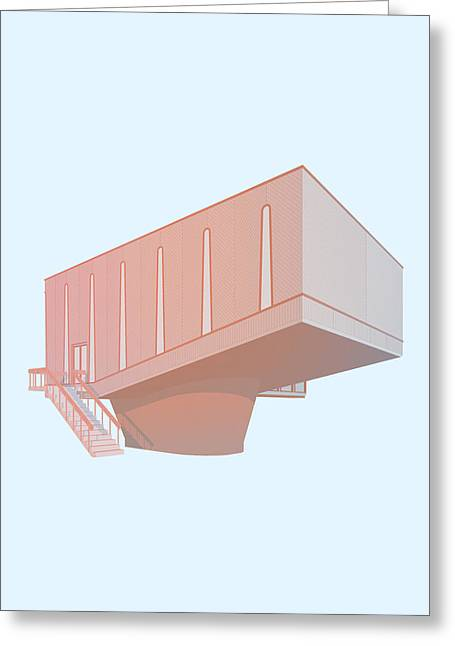 Brutalism Greeting Cards - Hudson Beare Greeting Card by Peter Cassidy