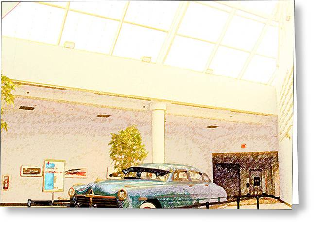 Hudson Car Under Skylight Greeting Card by Design Turnpike