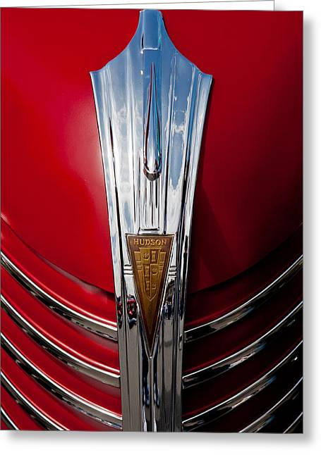 Custom Automobile Greeting Cards - Hudson Hood Greeting Card by Peter Tellone