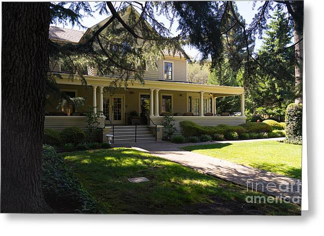 Napa Valley And Vineyards Greeting Cards - Hudson House At Beringer Winery St Helena Napa California DSC1715 Greeting Card by Wingsdomain Art and Photography