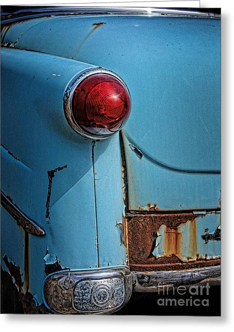 American Motors Corporation Greeting Cards - Hudson Jet Tail Light Greeting Card by Henry Kowalski