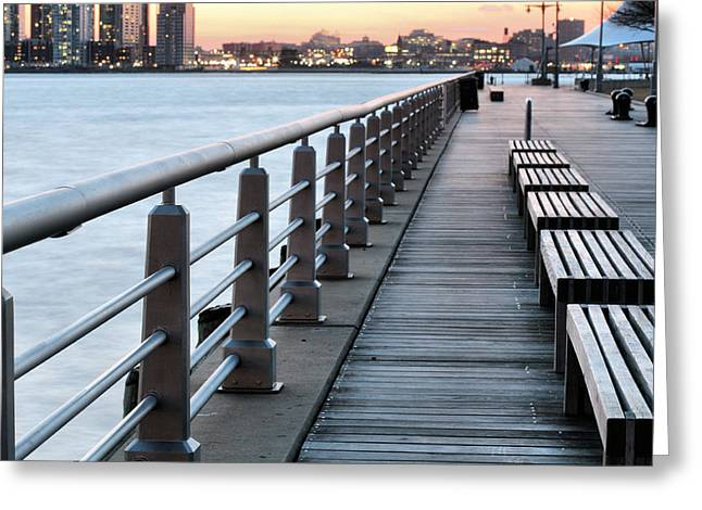 Hudson River Park Greeting Card by JC Findley