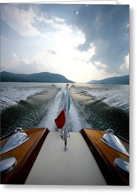 Hudson River Riva Greeting Card by Steven Lapkin