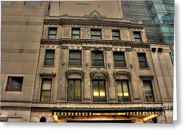 Tonight Greeting Cards - Hudson Theater Greeting Card by David Bearden