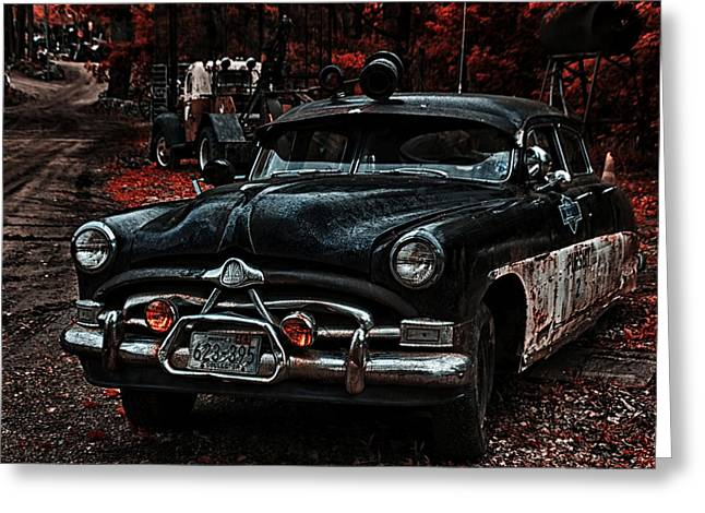 Police Cruiser Greeting Cards - Hudson Trooper Cruzer Greeting Card by Todd and candice Dailey
