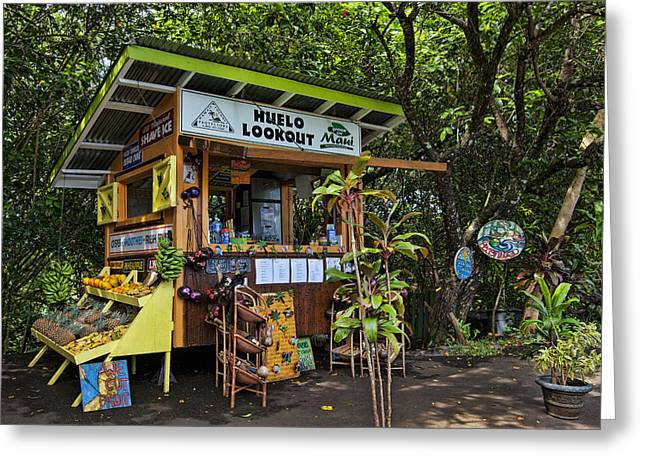 Fruit Stand Greeting Cards - Huelo Fruit Stand Greeting Card by James Roemmling