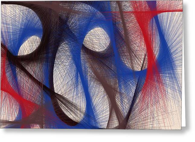 Hues Of Blue Greeting Card by Marian Palucci-Lonzetta