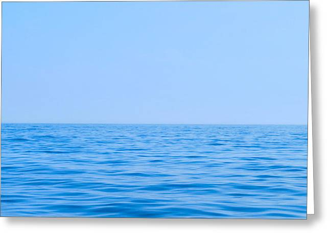 Temperature Greeting Cards - Hues Of Blues Greeting Card by Michelle Milano