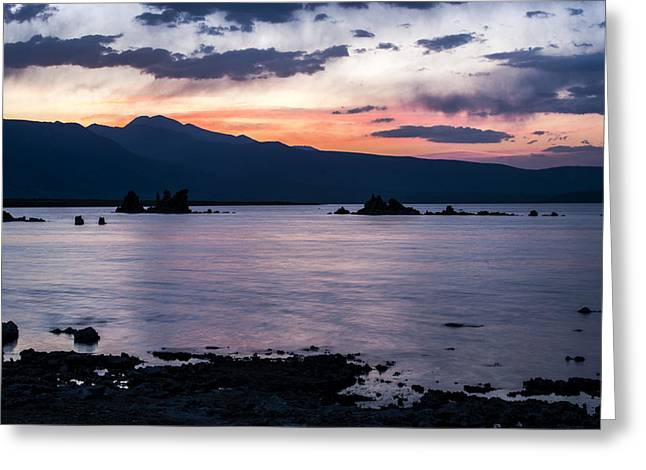 Purple Clouds Greeting Cards - Hues of Mono Lake Greeting Card by Cat Connor