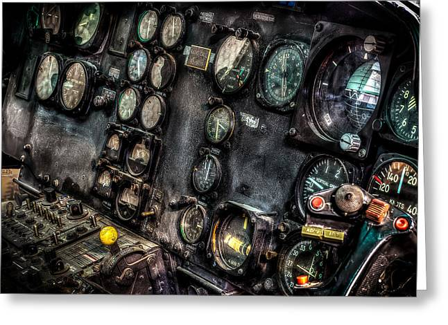 U.s. Marine Corps Greeting Cards - Huey Instrument Panel 2 Greeting Card by David Morefield