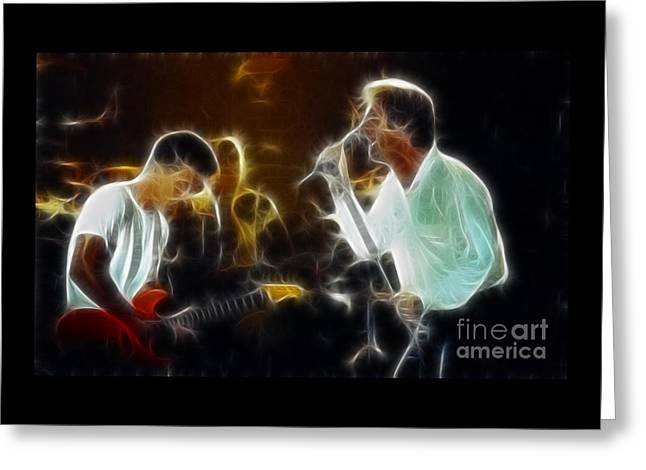Gingrich Photography Digital Greeting Cards - Huey Lewis-Chris-GD15A-Fractal Greeting Card by Gary Gingrich Galleries