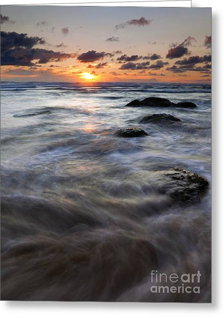 Hug Greeting Cards - Hug Point Tides Swirl Greeting Card by Mike  Dawson