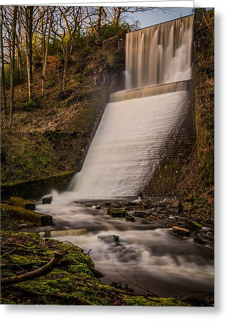 Tranquil Greeting Cards - Huge Flowing Waterfall. Greeting Card by Daniel Kay