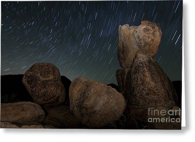 Pacific Crest Trail Greeting Cards - Huge Granite Boulders Under Starry Greeting Card by Dan Barr