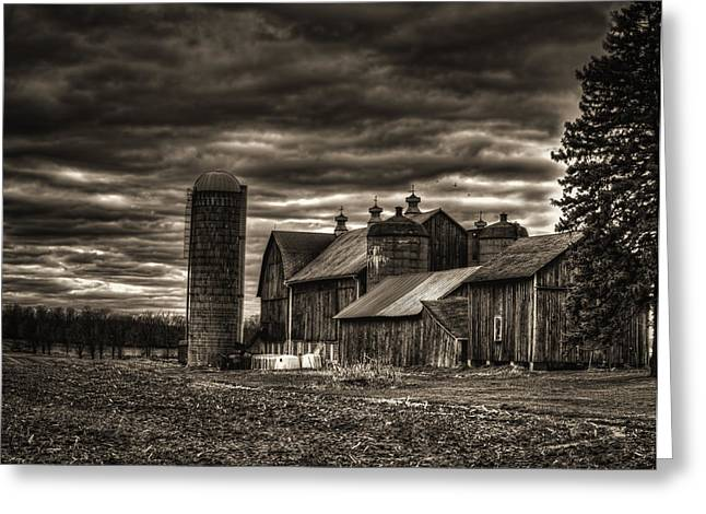 Winter Photos Photographs Greeting Cards - Huge Wisconsin Farm Greeting Card by Thomas Young