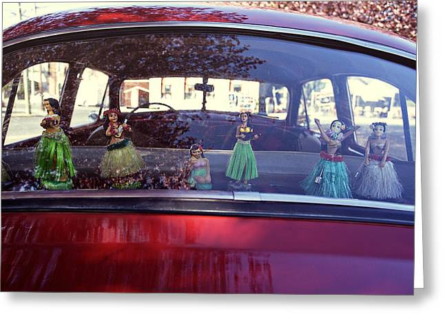 Bobble Posters Greeting Cards - Hula Girls Greeting Card by Nik West