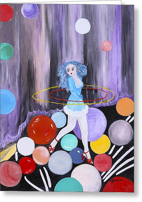 Figuratif Greeting Cards - Hula Hoop Greeting Card by Therese Gouriou
