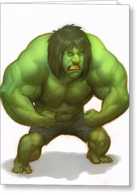 Hulk Greeting Cards - Hulk Greeting Card by Adam Ford