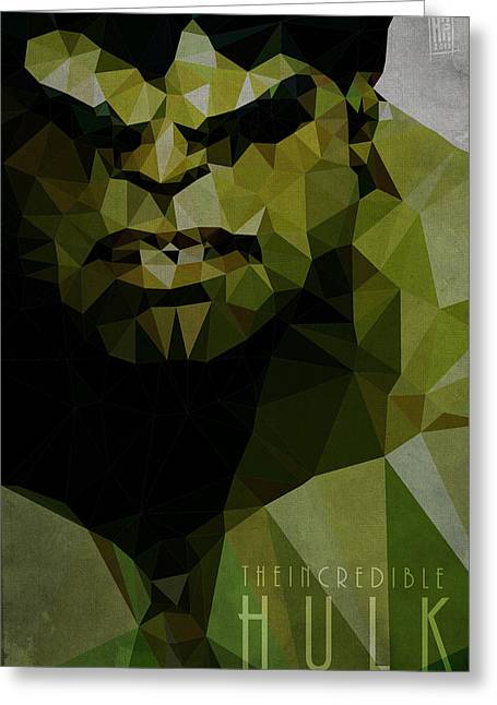 Power Digital Art Greeting Cards - Hulk Greeting Card by Daniel Hapi