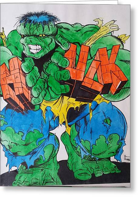 Bruce Banner Greeting Cards - Hulk Greeting Card by DMo Herr