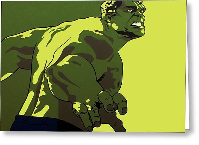 Bruce Banner Greeting Cards - Hulk Greeting Card by Ian  King