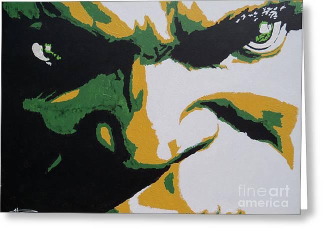 Close Up Framed Prints Greeting Cards - Hulk - Incredibly Close Greeting Card by Kelly Hartman