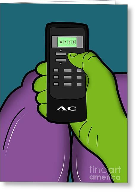 Impressions Digital Greeting Cards - Hulk Greeting Card by Mark Ashkenazi