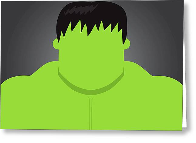 Green Monster Greeting Cards - Hulk Greeting Card by Samuel Whitton