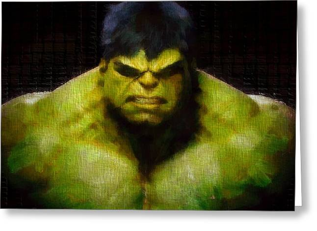 Bruce Banner Greeting Cards - Hulk Smash Greeting Card by Dan Sproul