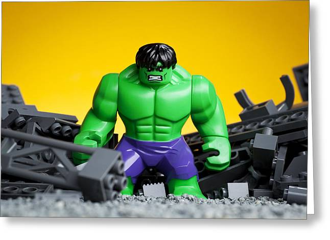 Character Photographs Greeting Cards - Hulk Smash Greeting Card by Samuel Whitton