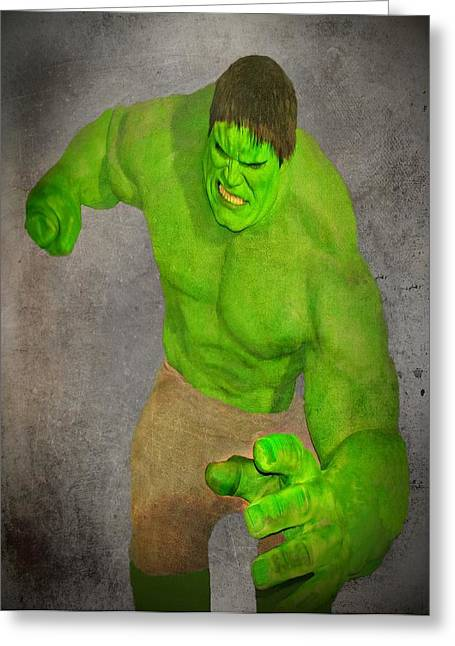 Bruce Banner Greeting Cards - Hulk the Angry Guy Greeting Card by David Dehner