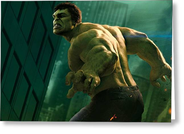 Bruce Banner Greeting Cards - Hulk The Avenger Greeting Card by Movie Poster Prints