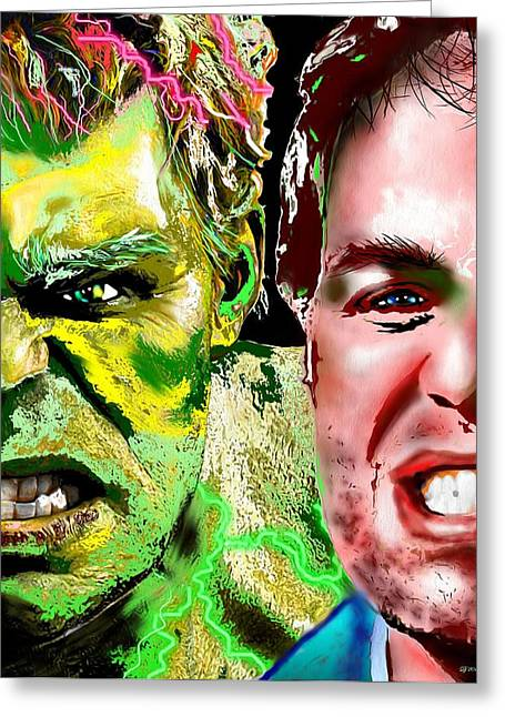 Mark Ruffalo Greeting Cards - Hulk Vs Bruce Banner Greeting Card by Daniel Janda