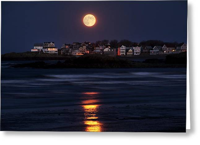 Hull Ma Greeting Cards - Hull Moonshine Greeting Card by Joanne Brown