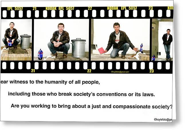 Street Drinker Digital Art Greeting Cards - Human Diversity Greeting Card by Mike Hoyle