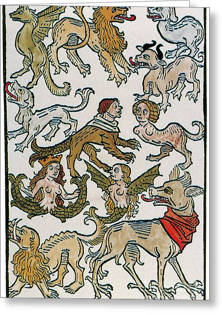 Human Monsters 1493 Greeting Card by Photo Researchers