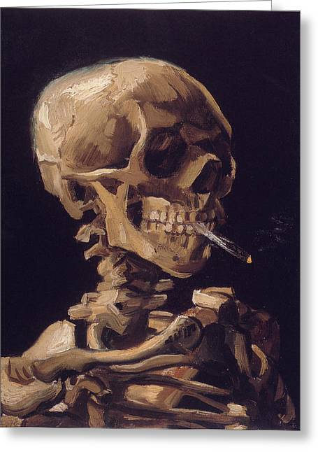 Human Reliefs Greeting Cards - Human Skeleton Greeting Card by Raphael  Sanzio