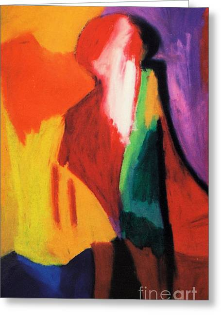 Human Pastels Greeting Cards - Human Understanding Greeting Card by Jon Kittleson