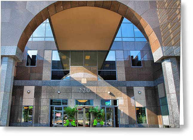 Entrance Door Greeting Cards - Humana Building II Greeting Card by Steven Ainsworth