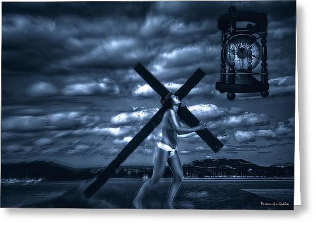 Dark Skies Greeting Cards - Humanity Through Time Greeting Card by Ramon Martinez