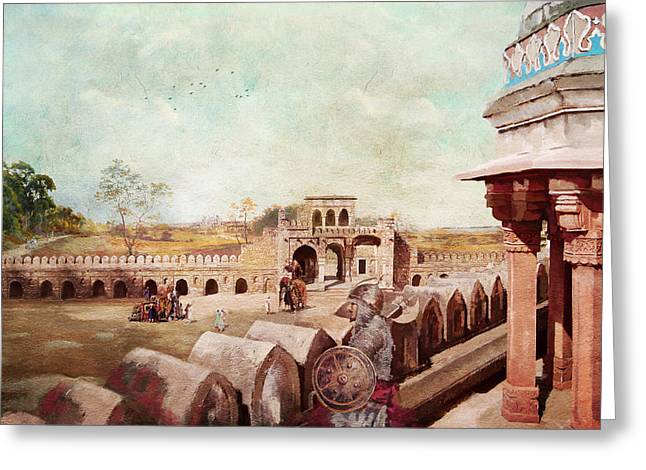 Devi Greeting Cards - Humayun Tomb Greeting Card by Catf