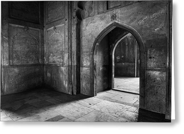 Mauseleum Greeting Cards - Humayuns Tomb Greeting Card by Instants