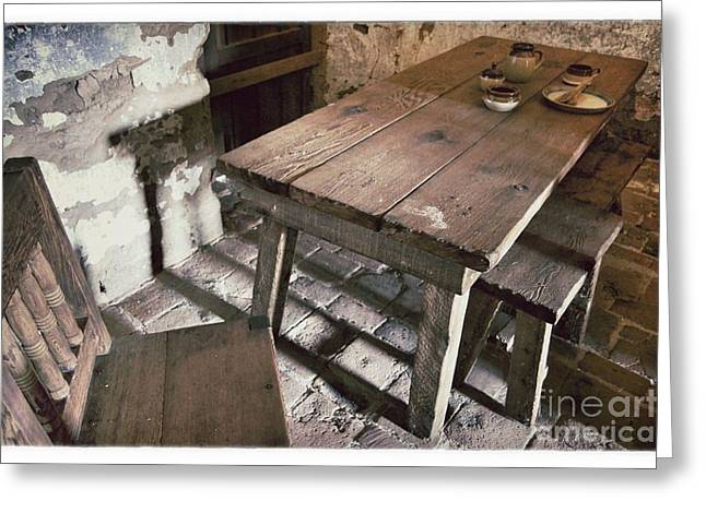 Mission San Rafael Greeting Cards - Humble Table Greeting Card by John Castell