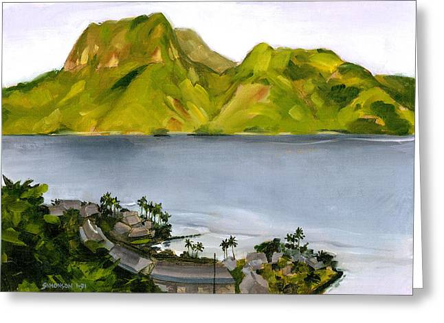 South Pacific Greeting Cards - Humid Day in Pago Pago Greeting Card by Douglas Simonson