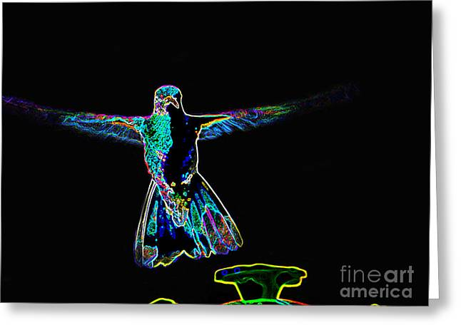 Cuenca Greeting Cards - Hummer Brilliance Greeting Card by Al Bourassa