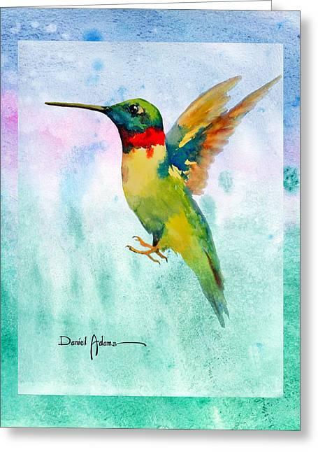 Hummingbird Greeting Cards - Hummer Dreams Revisited Greeting Card by Daniel  Adams
