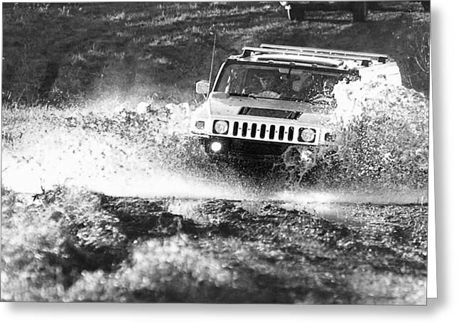 Jeff Taylor Greeting Cards - Hummer off road Greeting Card by Jeff Taylor