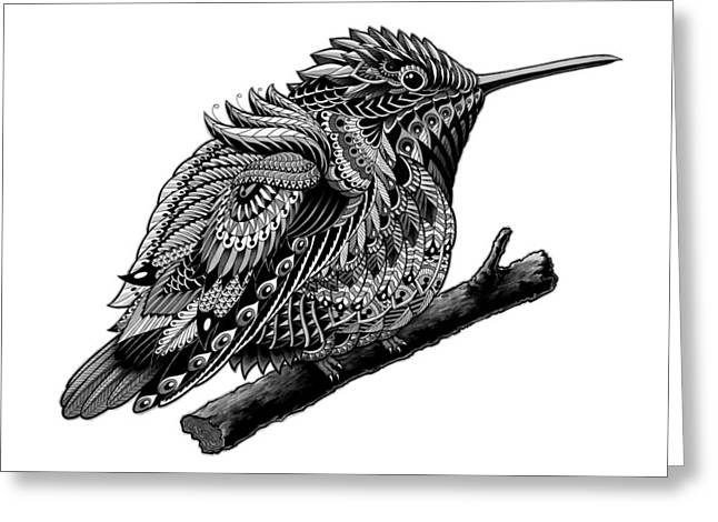 Native American Illustration Greeting Cards - Hummingbird Greeting Card by BioWorkZ
