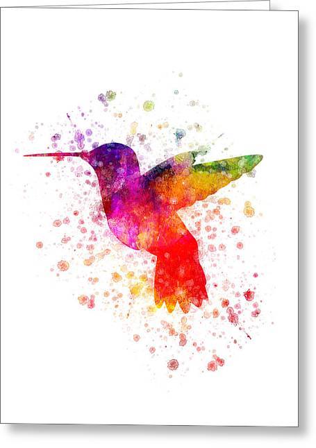 Trochilidae Greeting Cards - Hummingbird in color Greeting Card by Aged Pixel